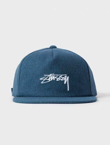 Stussy - Smooth Stock Melton Strapback - Blue