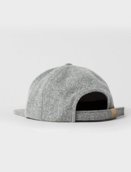 Stussy - Smooth Stock Melton Strapback - Heather Grey