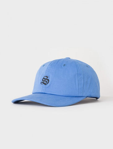 Stussy - Bio Washed Cotton Low Strapback - Blue