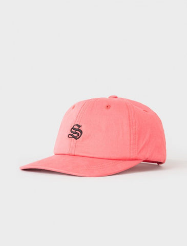 Stussy - Bio Washed Cotton Low Strapback - Red
