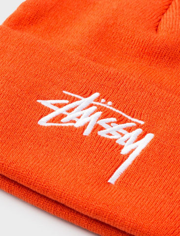 Stussy - Stock Cuff Beanie - Orange