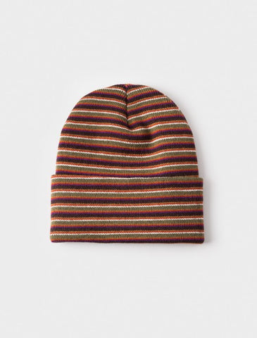 Stussy - Stock Striped Cuff Beanie - Olive