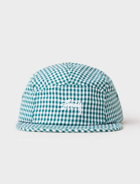 Stussy - Gingham Stock Camp Cap - Green