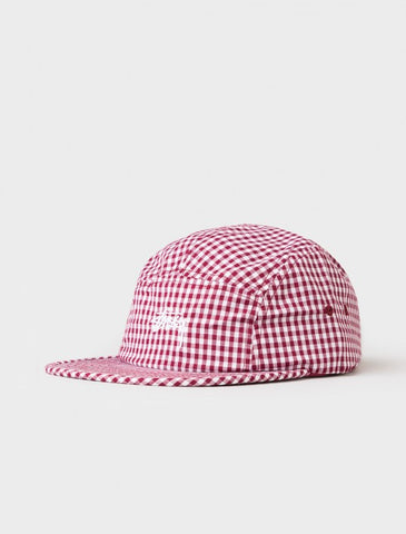 Stussy - Gingham Stock Camp Cap - Red
