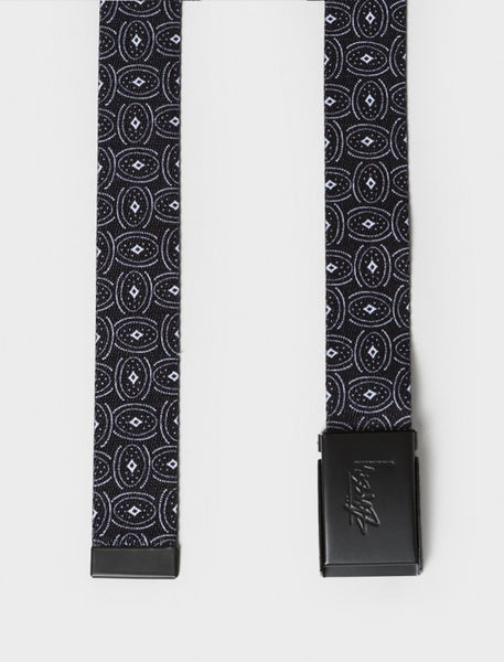 Stussy - Circle Paisley Web Belt - Black