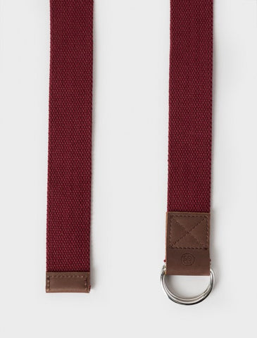 Stussy - Pigment Dyed D-Ring Belt - Burgundy
