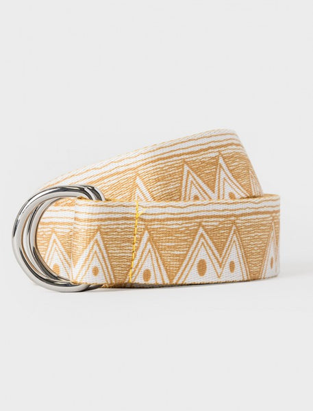 Stussy - Tom Tom Jacquard D-Ring Belt - Mustard