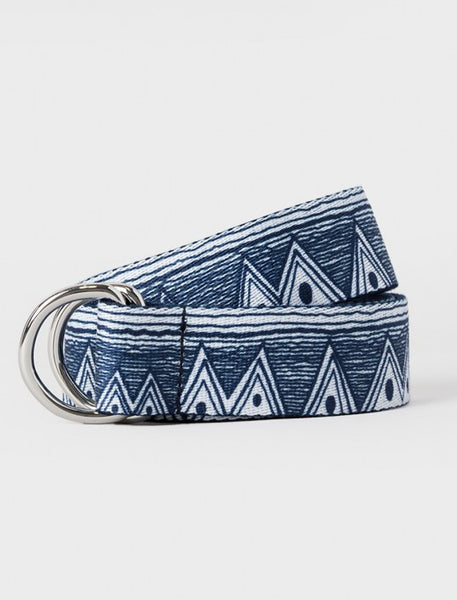 Stussy - Tom Tom Jacquard D-Ring Belt - Navy