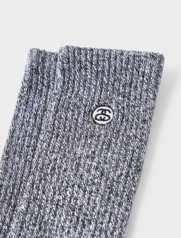 Stussy - Mini SS-Link Crew Socks - Heather Grey