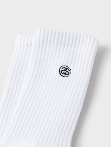 Stussy - Mini SS-Link Crew Socks - White
