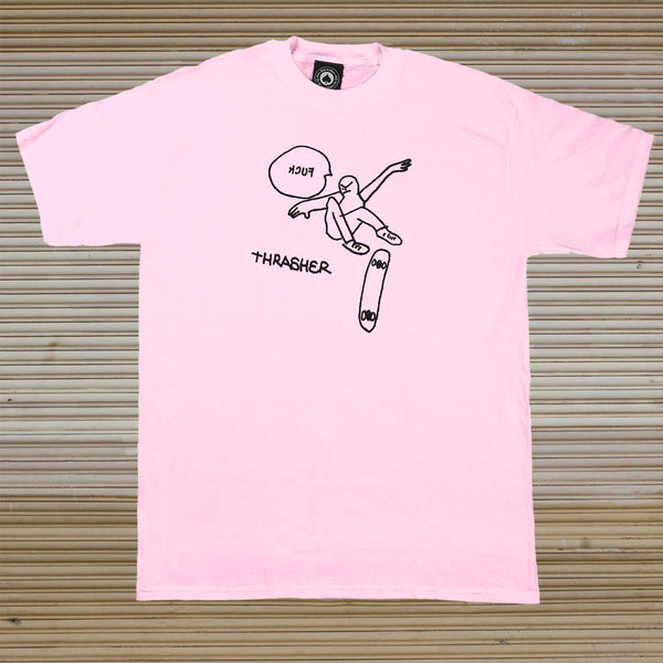 Thrasher - Kcuf Tee - Light Pink