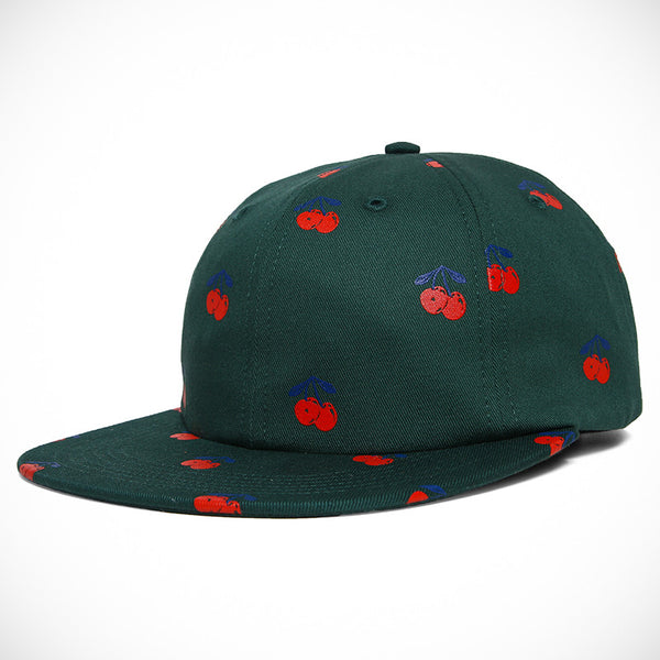 Acapulco Gold - Cherry 6 Panel Cap - Dark Green