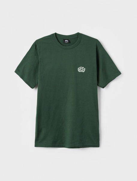 Stussy - S Wreath Emb. T-Shirt - Pine