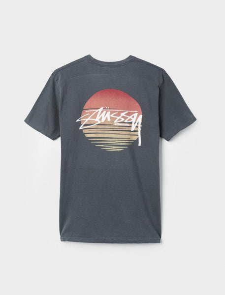 Stussy - Sunset Dot Pigment Dyed T-Shirt - Black