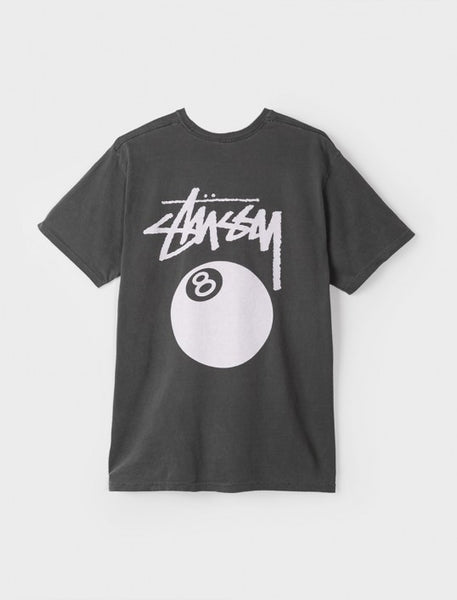 Stussy - 8 Ball Pigment Dyed Tee - Black