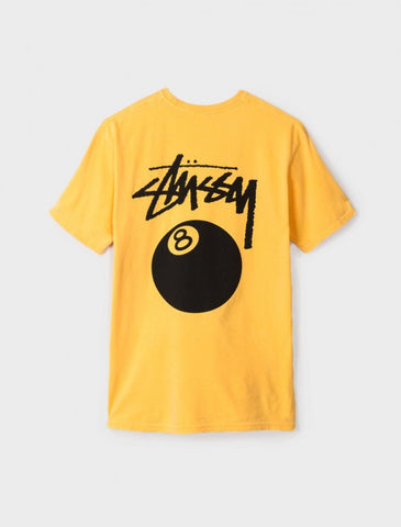 Stussy - 8 Ball Pigment Dyed Tee - Faded Yellow