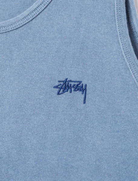 Stussy - Small Stock Pigment Dyed Tank - Navy