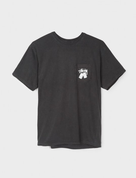 Stussy - Dominos Pig. Dyed Pocket Tee - Black