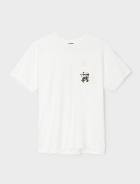 Stussy - Dominos Pig. Dyed Pocket Tee - Natural