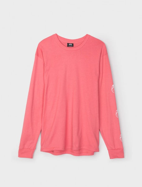 Stussy - Stock World L/S Tee - Dark Pink
