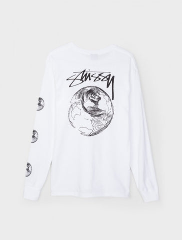 Stussy - Stock World L/S Tee - White