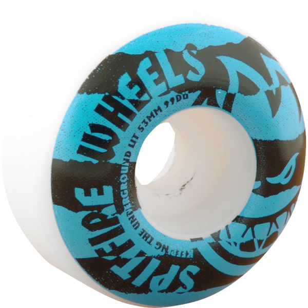 Spitfire - Shredded 53mm - White/Blue