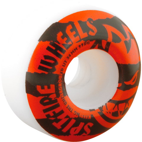 Spitfire - Shredded 54mm - White/Red