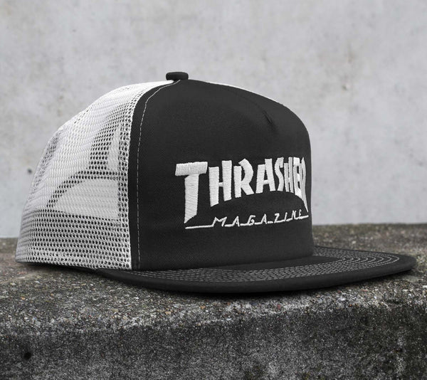 Thrasher - Magazine Logo Mesh Cap - Black/White