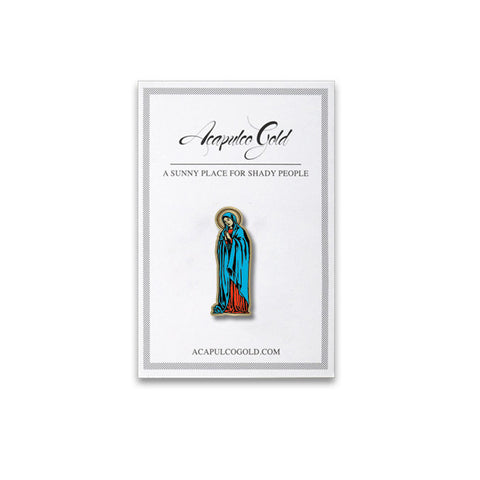 Acapulco Gold - Hail Mary Lapel Pin - Silver