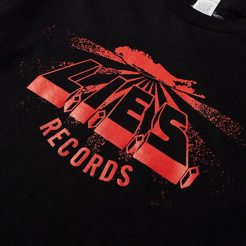 L.I.E.S. Records - Logo Tee - Black w/ Red