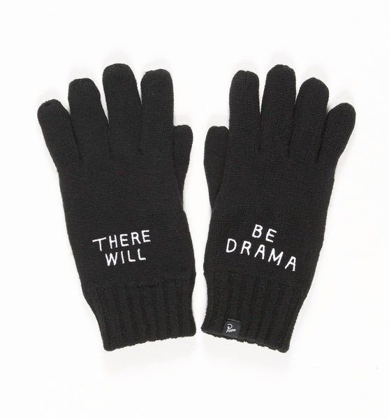 By Parra - Knitted Gloves Drama - Black