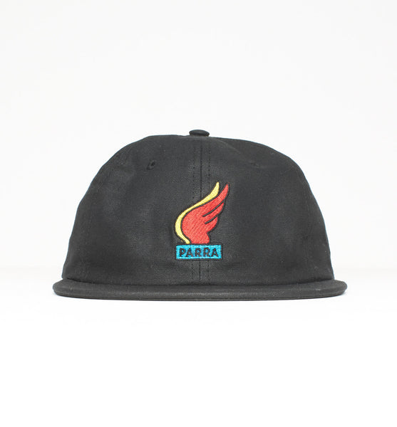 By Parra - Waxed Wings 6 Panel Hat - Black
