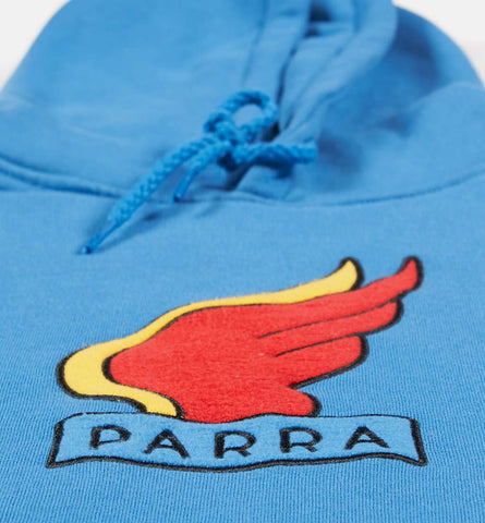 By Parra - Sweater Wings Hooded Sweatshirt - Deep Water Blue