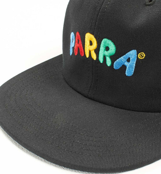 By Parra - 6 Panel Hat Toy Logo - Black