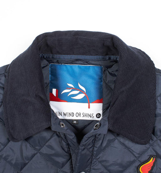 By Parra - Wings Quilted Jacket - Navy Blue