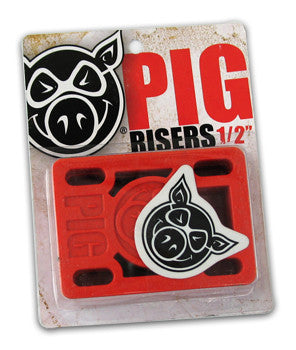 "Pig Wheels - 1/2"" Riser Pad - Black"