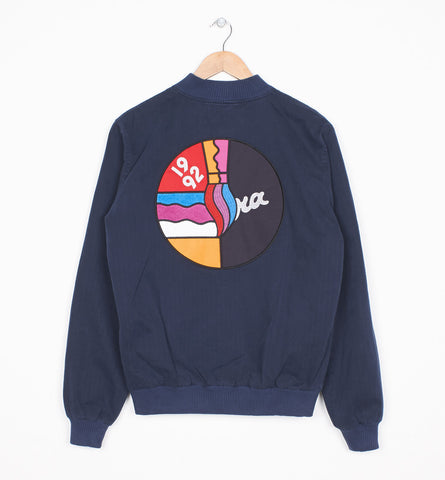 By Parra - 1992 Varsity Jacket - Navy Blue Herringbone