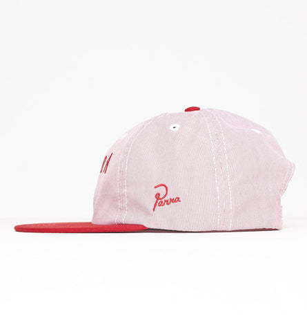 By Parra - Beak Knob 6 Panel Cap - Red Pincord
