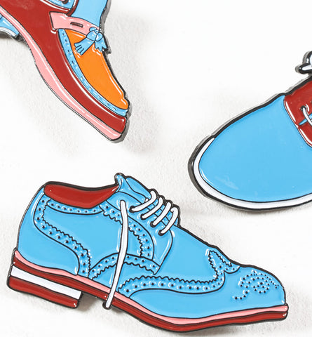 By Parra - Set of 3 Shoes Pins - Multicolor