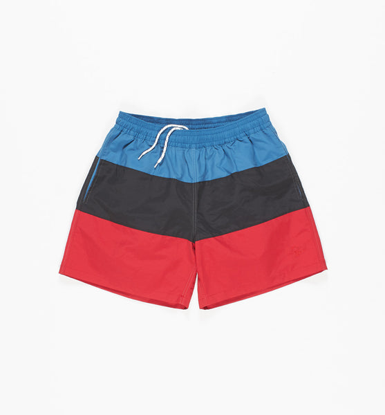 By Parra - Panelled Summer Trunks - Black/Blue