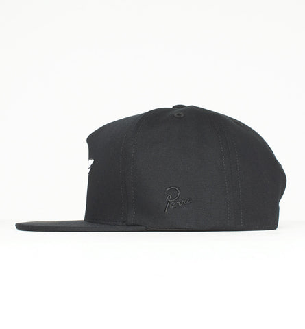By Parra - Amsterdam 5-Panel Snapback Hat - Black
