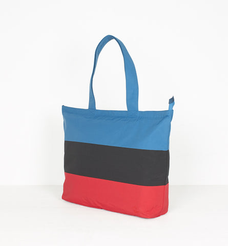 By Parra - Panelled Summer Tote Bag - Black/Blue