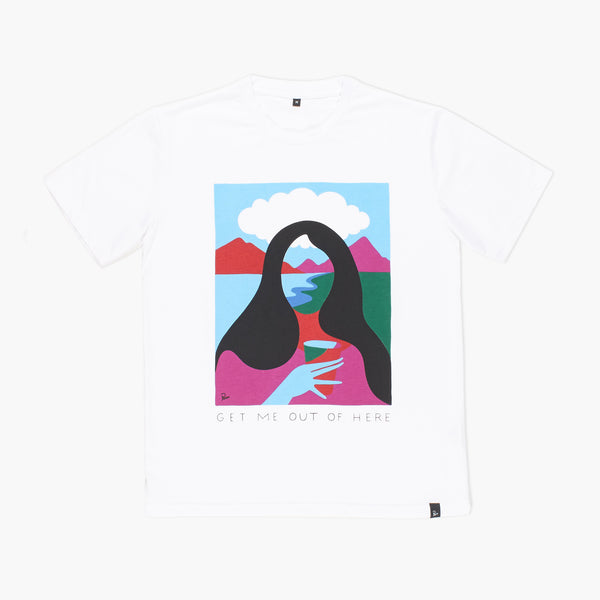 By Parra - Get Me Out of Here T-Shirt - White