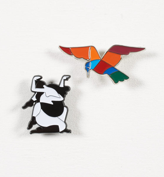 By Parra - Set of 2 Pins - Enamel
