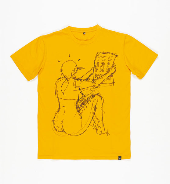 By Parra - The Worst T-Shirt - Stonewashed Gold