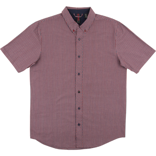 Independent - Tidy S/S Button Up - Navy/Burgundy