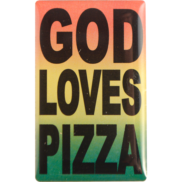 Pizza Skateboards - God Loves Pizza Enamel Pin - Silver