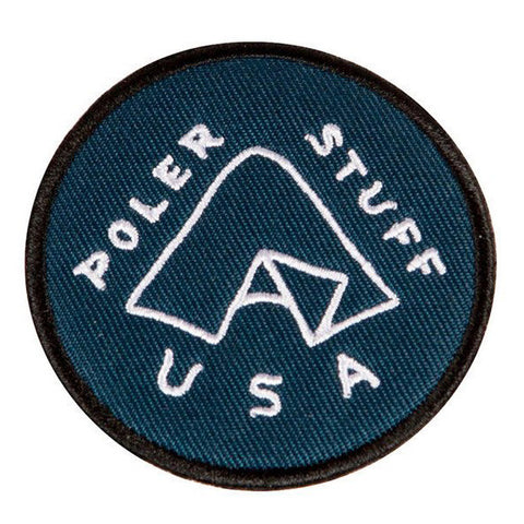 Poler - Tent Iron On Patch - Blue