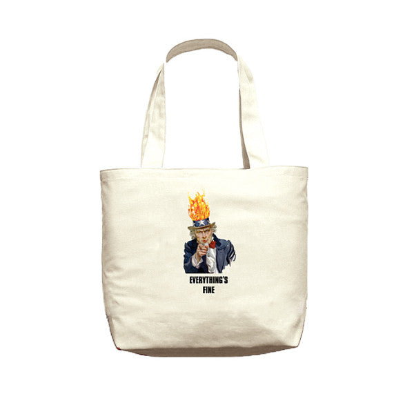 Acapulco Gold - Everything's Fine Tote Bag - Off White