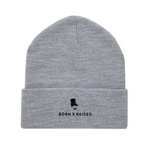 Born X Raised - Lacrosse Beanie - Heather Grey